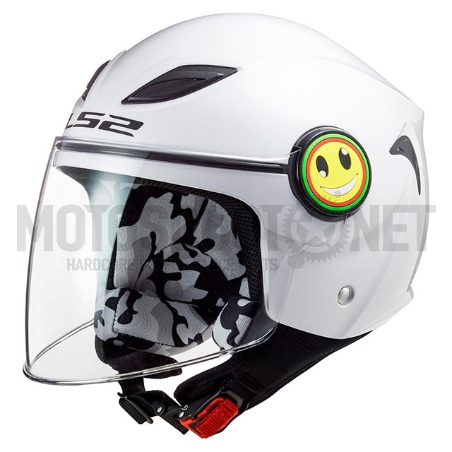 Casco Jet LS2 OF602 Funny Blanco ref: A-306021002