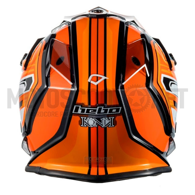 Casco Cross junior Hebo MX Konik naranja ref: A-HC0704