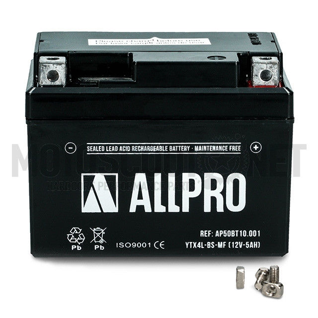 Bateria YTX4L-BS Sellada Allpro Sku:AP50BT10.001 /a/p/ap50bt10.001_01.jpg