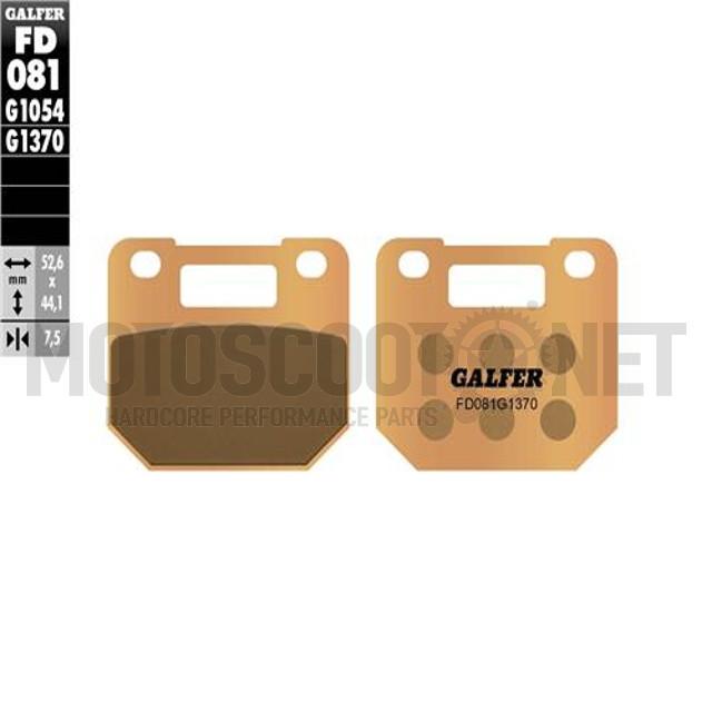 Pastillas de freno Pinza Voca/Stage6 4 pistones Galfer - Sinterizadas ref: FD081G1370
