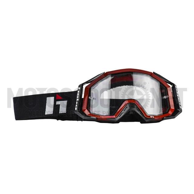 A-HG1007R Gafas enduro/MX Hebo Quantum II Rojo