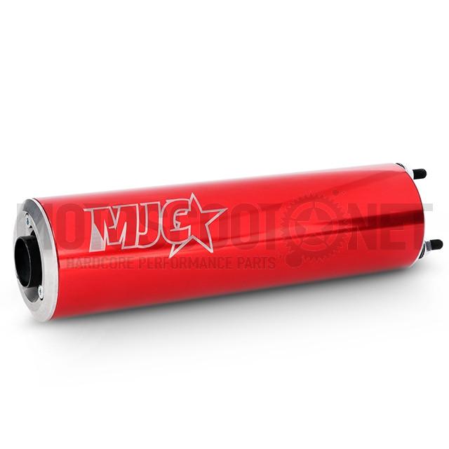 Escape Derbi/AM6 80/90cc silenciador rojo MJC  Sku:MJCE80/90RE /m/j/mjce80-90re_07.jpg