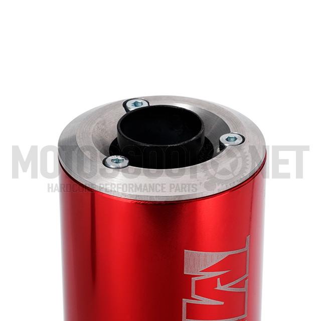 Escape Derbi/AM6 80/90cc silenciador rojo MJC  Sku:MJCE80/90RE /m/j/mjce80-90re_08.jpg