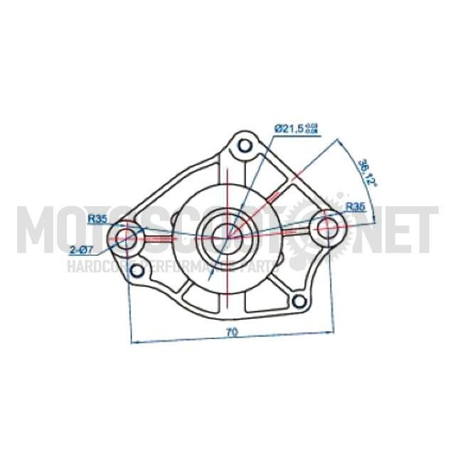 Motor de arranque Peugeot/Honda 100cc Octane ref: VC28670