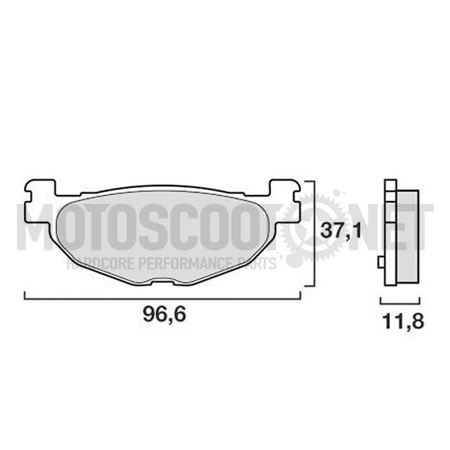 Pastillas Brembo sinterizadas, traseras. YAMAHA T MAX 500 4T LC 2004-07 i 530cc 2012-