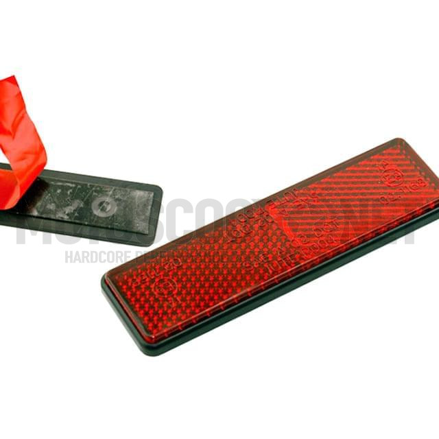 Catadrióptico rectangular con adhesivo, homologado