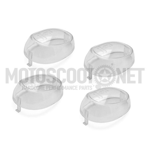 Tulipas transparentes (Set de 4) para intermitentes, MBK Booster/Yamaha BW's (version 2004)