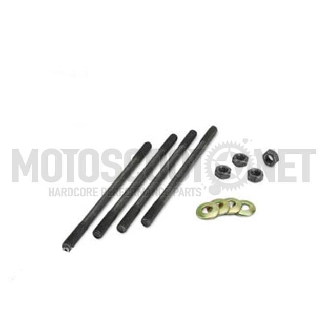 Espárragos M6 x 106mm (Set de 4 Un. con tuercas y arandelas), motor Minarelli vertical, Piaggio