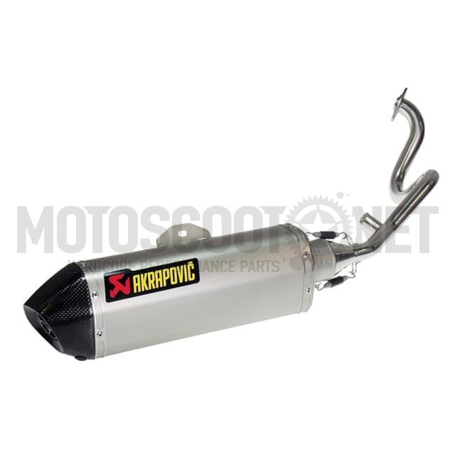 Escape Honda Shi 125/150  2005-2012 Hexagonal completo silenciador Titanio/Carbono Homologado Akrapovic