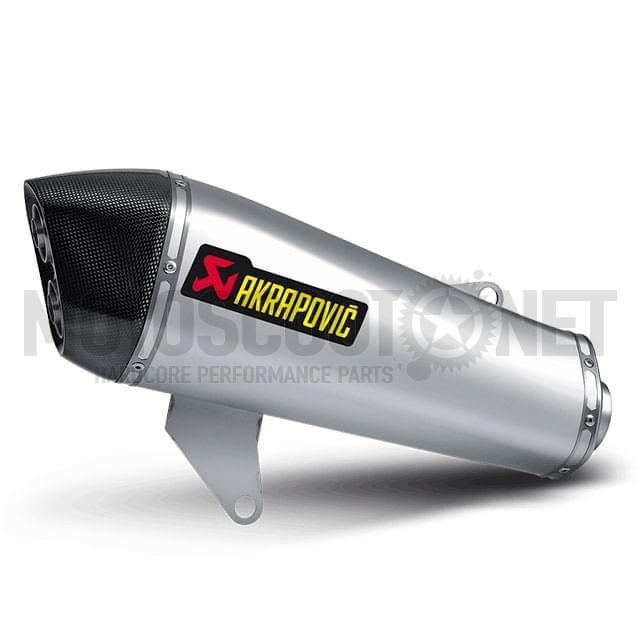 Escape Piaggio X10 350 >2012 Hexagonal Slip on silenciador Titanio homologado Akrapovic