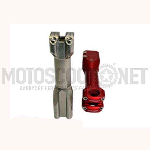 Potencia manillar Doppler SCOOT, MBK Nitro/Yamaha Aerox, (largo), rojo/metalizado