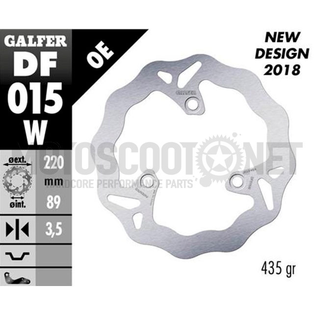 Disco de freno delantero Wave Honda SH 50 / 100 / Yamaha Why Galfer