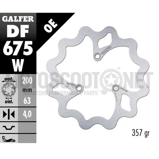 Disco de freno trasero Wave Beta ART / Senda R DRD 125 / Motorhispania RYZ Galfer