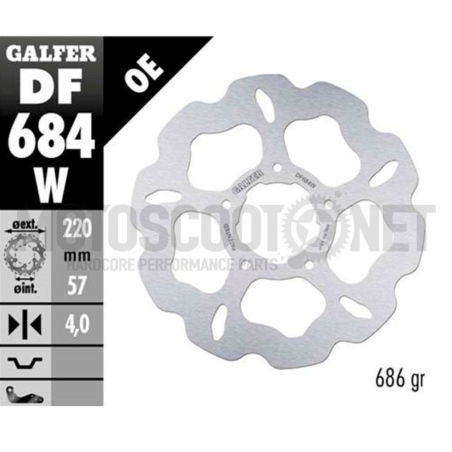 Disco de freno trasero Wave Rieju RS-2 Galfer