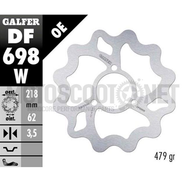 Disco de freno trasero Wave Bultaco Astro / Derbi Senda / Yamaha DT Galfer