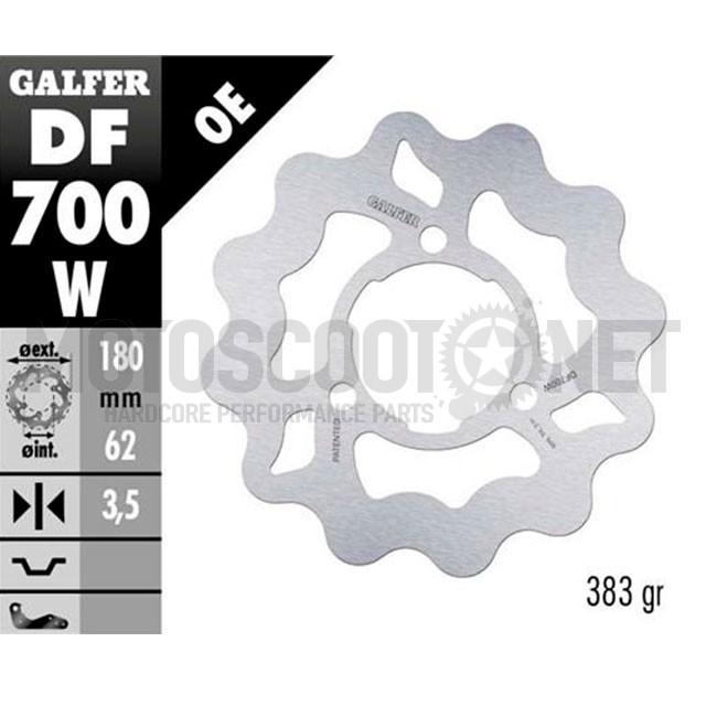 Disco de freno trasero Wave Derbi DRD / X-Treme / X-Race Galfer