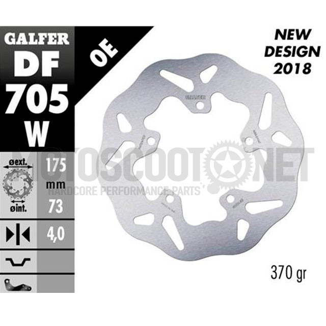 Disco de freno trasero Wave Runner SP / Stalker / NRG mc2/mc3 Galfer