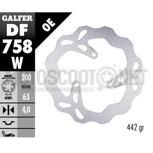 Disco de freno trasero Wave Rieju MRT / MRX Pro Galfer