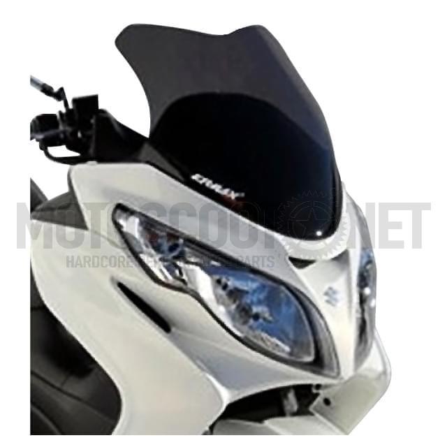 Cúpula sport ErMax Suzuki Burgman 400cc 06-11, negro oscuro