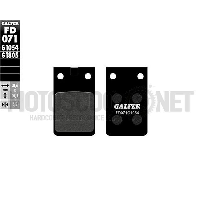 Pastillas de frenos Galfer Semimetal, diferentes modelos: Bultaco, Fantic, Garelli…