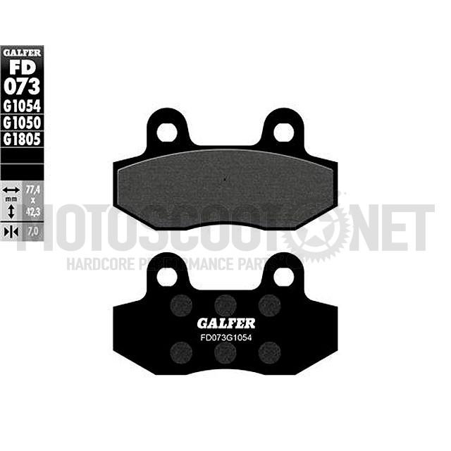 Pastillas de freno Galfer, orgánico (FD073G1054) Speedfight 3 delantero, pitbike pinza del. 2 pistones (comprobar imagen)
