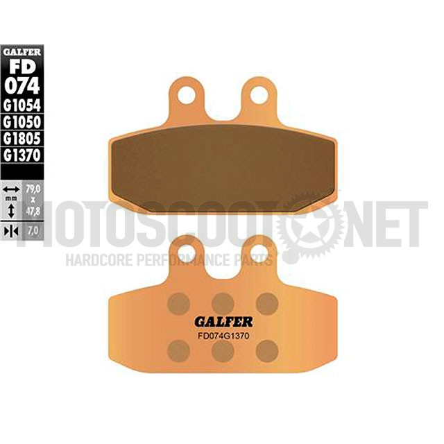 Pastillas de freno Galfer - Sinterizado , Aprilia, KTM, Yamaha DT/DTZ 125