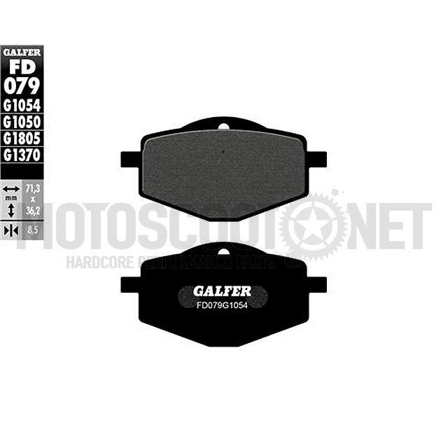 Pastillas de freno Galfer Semi-Metal, Yamaha dt 125 R, XT 600