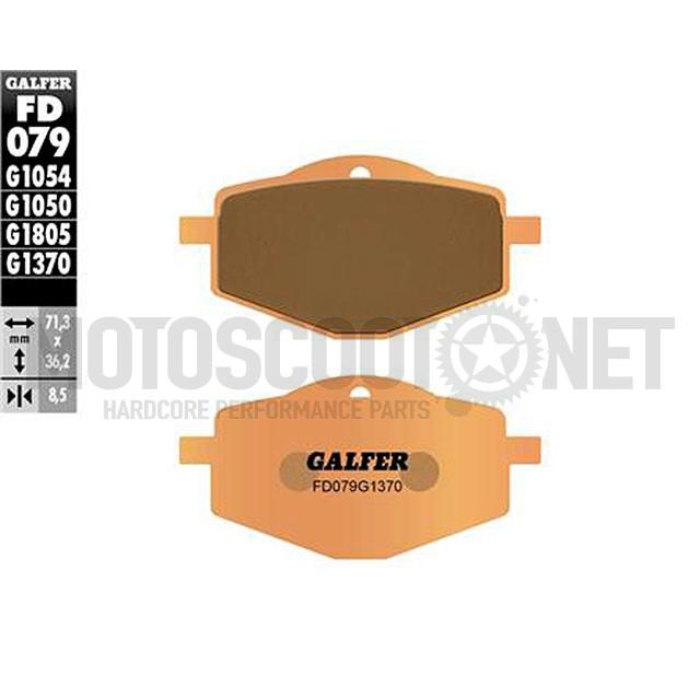 Pastillas de freno (set) Galfer sinterizadas Street, Yamaha DT 125, TZR 50 1997-2002, a partir de 1992 / XT 225-600