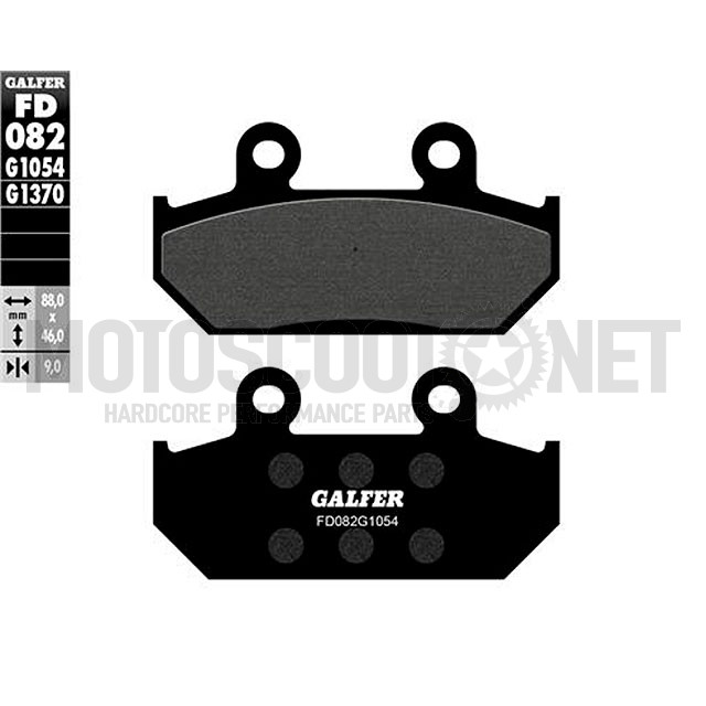 Pastillas de freno Galfer, orgánica negra, Honda CBR, NX delantero
