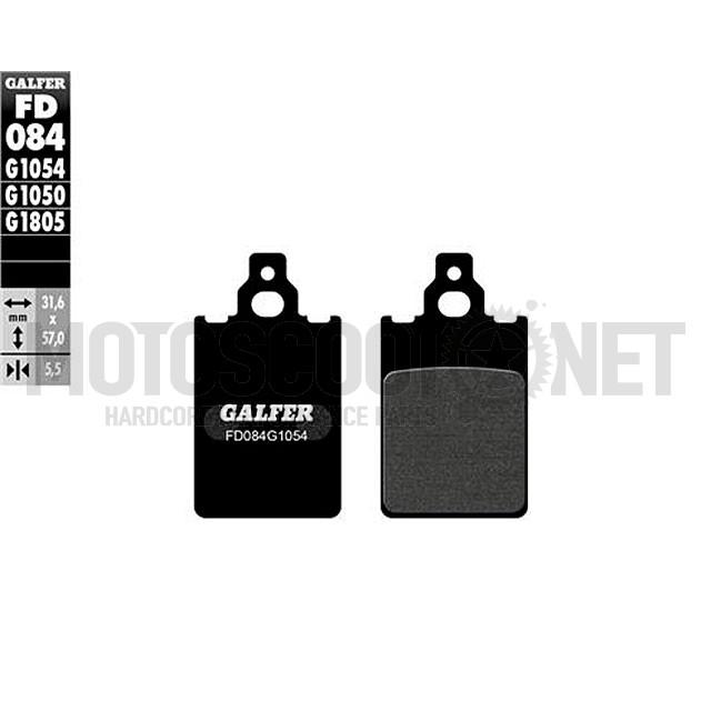 Pastilla de Freno (Set) Galfer orgánico, (FD084G1054) Yamaha DT LCD 96-03