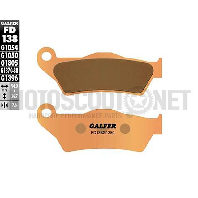 Pastillas de freno Galfer - Sinterizadas, del. Aprilia RX 125, Nexus250/ 500, Husqvarna, KTM, Madison 180/200, MBK