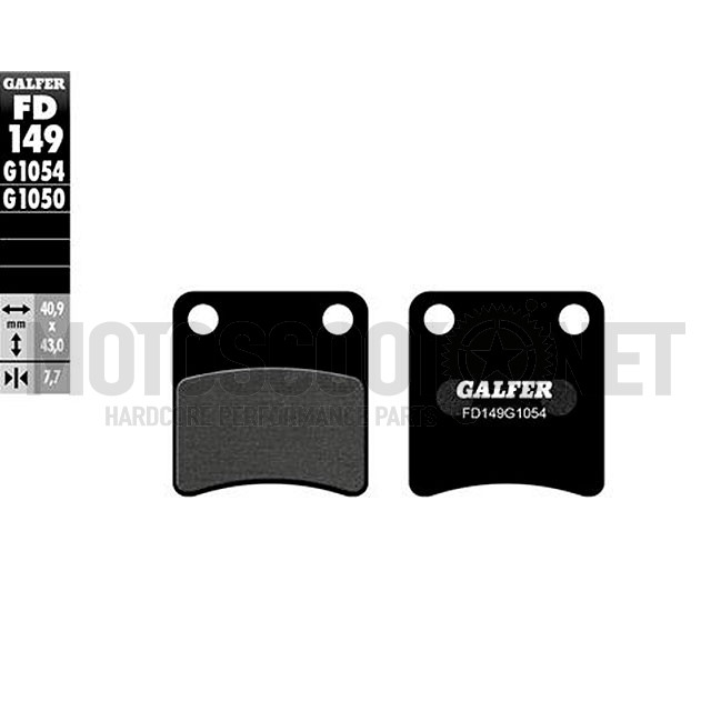 Pastillas de freno Galfer - Orgánica negra, Delantera, Honda Dio ZX desde '91