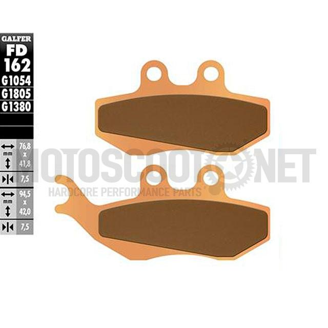 Pastillas de Freno (Set) Galfer Metal sinterizado, S18 delantero (FD162G1380)