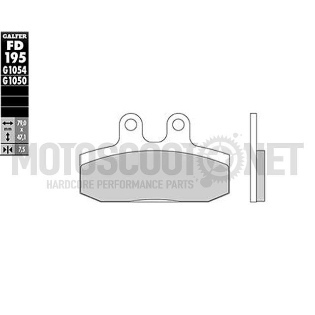 Pastillas de freno Galfer - Semi-Metal (PREMIUM), Delantera, Honda Bali 50/100cc