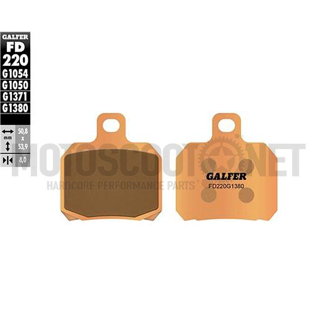 Pastillas de freno Galfer - sinterizados (FD220G1380) , Derbi Senda DRD Pro a partir de 2006, Rieju MRX Pro DELANTERO