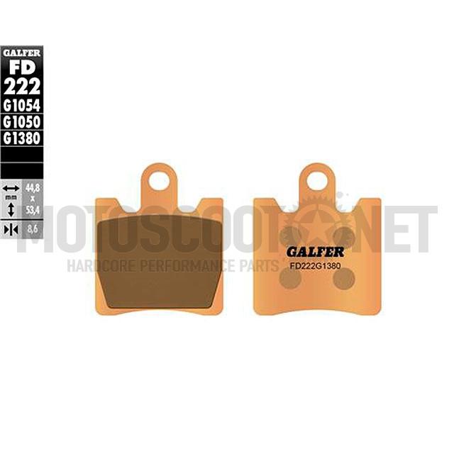 Pastillas de freno Galfer - Metal sinterizadas, SUZUKI BURGMAN AN 250 4T LC (´03-´06)
