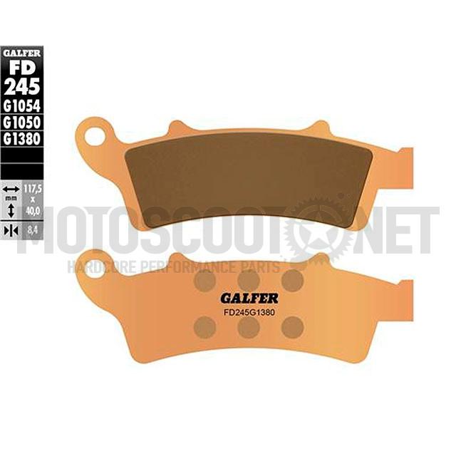 Pastillas de freno Galfer - Metal sinterizadas, KYMCO PEOPLE GTi 300 ie 4T LC euro 3, Aprilia Atlantic