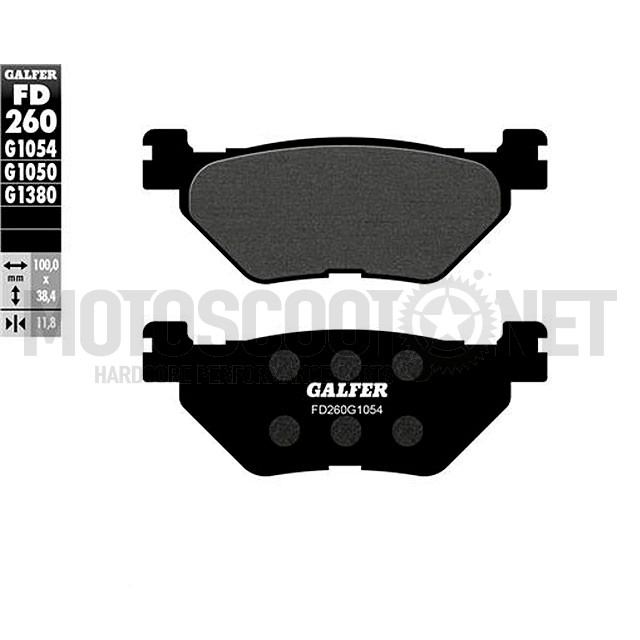 Pastillas de freno Galfer, orgánica negra, trasera YAMAHA T MAX 500 4T LC 2001>2003
