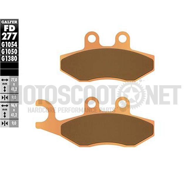 Pastillas de freno Galfer - Metal sinterizadas, para DNA 125/180, Nexus, Runner 125/250/300, Fuocco, Runner, Vespa GT, GTS, GTV,