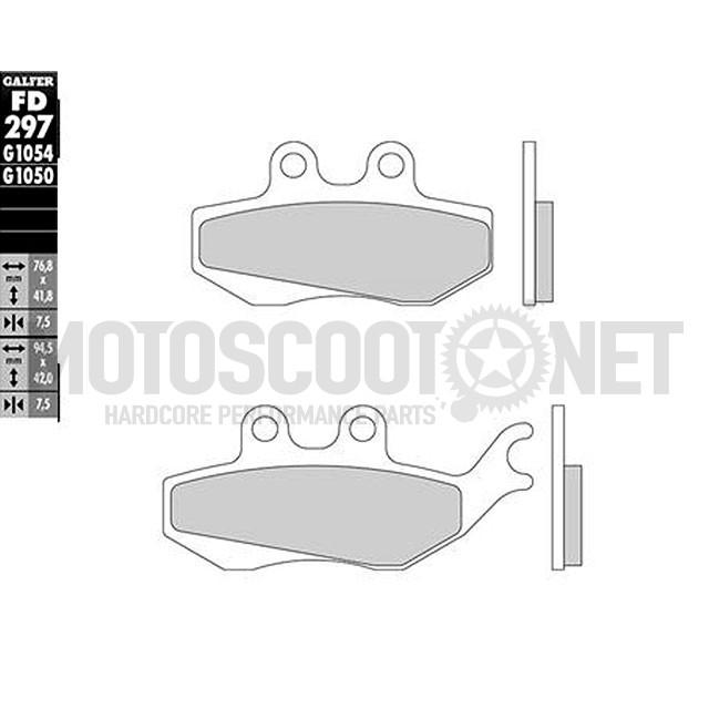 Pastillas de Freno Galfer FD297, semi-metal - Rieju NKD 125/ RS-2 Matrix / RS-2 Naked