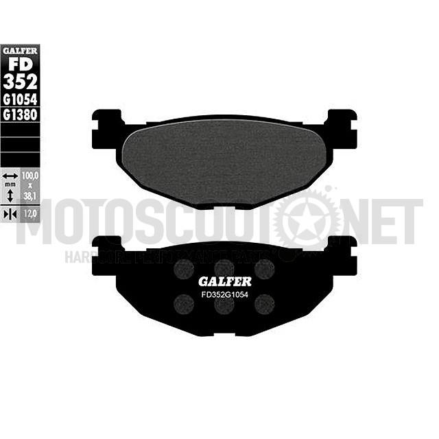 Pastillas de Freno Galfer (GLFD352G1054) orgánico, Trasera, Yamaha SP 400 Majesty 2004/05, T-Max a partir 2012, Tmax 2008-11