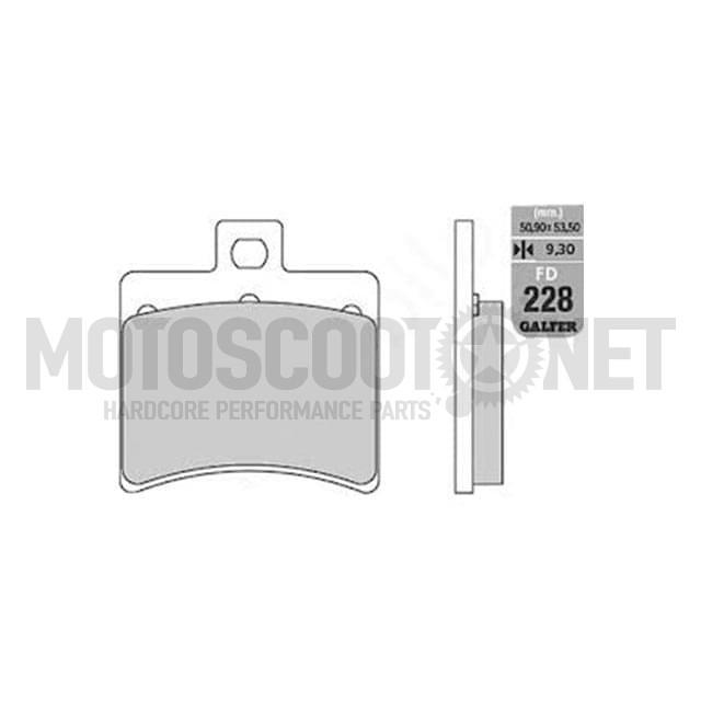 Pastilla de Freno (Set) Galfer Metal sinterizado, (FD228G1380)TRASERO, Aprilia Arrecife/ Atlantix 125-500/Leonardo 250-300