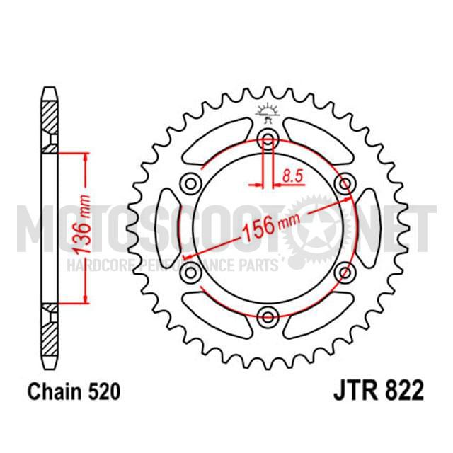 Corona Husaberg SMS 2000-2012 Z-49 520 JT Sprockets ref: R82249