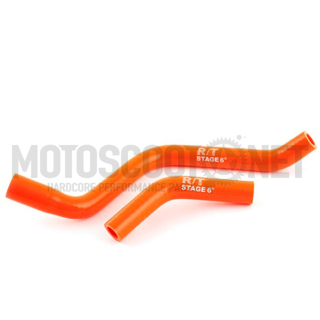 Tubos radiador de silicona Derbi euro 3 Stage6 - naranja ref: S6-01219300/OR