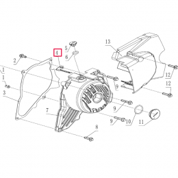 Pletina soporte cable encendido Pitbike motor 190 Zongshen