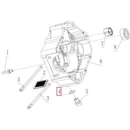 Arandela tornillo tapón de vaciado Ø12,1xØ20x2  Pitbike motor 190 Zongshen