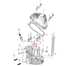 Junta tórica tapa de balancines Ø6,5x1,8 Pitbike motor 190 Zongshen