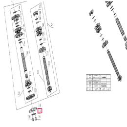 Pletina cierre piñón de ataque Pitbike motor 190 Zongshen