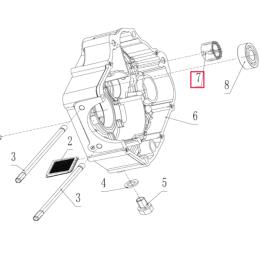 Rodamiento de agujas cárter derecho NK15x27x12 Pitbike motor 190 Zongshen