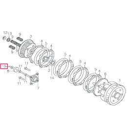 Empujador embrague Pitbike motor 150-3 150-5 YX